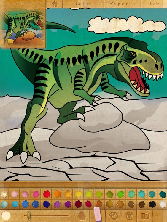 Coloring Book. Dinosaurs. Lite screenshot-3