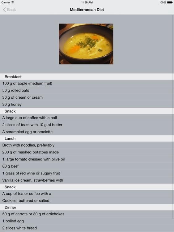 Mediterranean Diet Planner & Calorie BMI Calculator HD