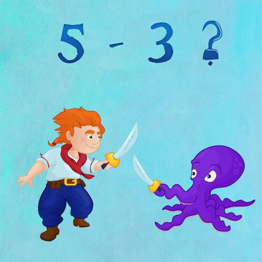Пиратские кинжалы - веселая игра для обучения детей счету.