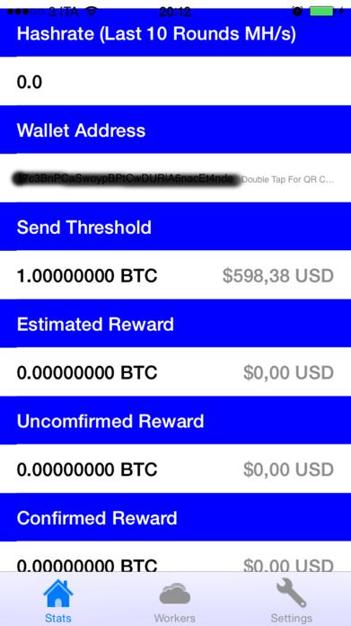 Bitcoin.CZ - Bitcoin pool mining monitor Screenshot