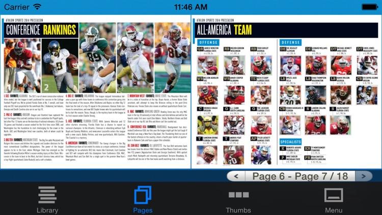 Allstate College Football Magazine