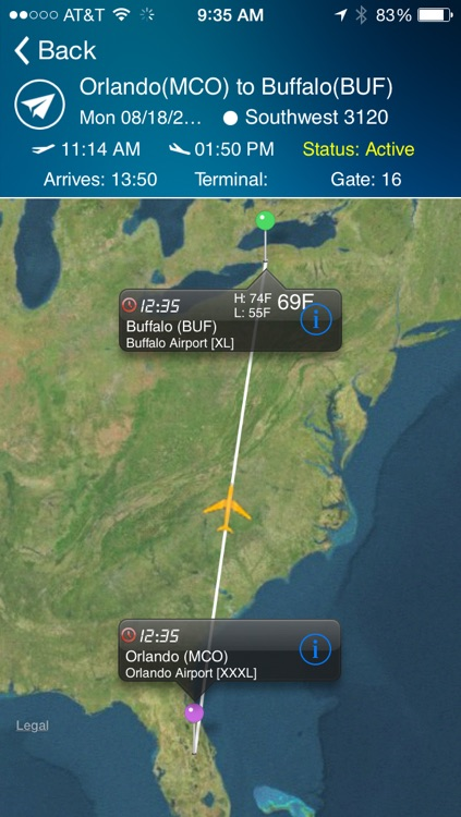 Buffalo Airport - Flight Tracker Premium screenshot-0