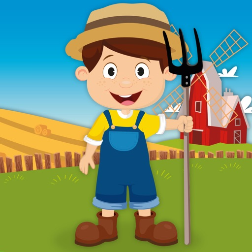 Milo's Free Mini Games for a wippersnapper - Barn and Farm Animals Cartoon