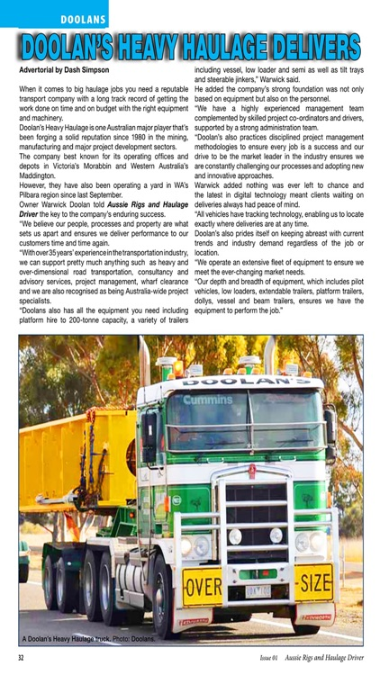 Aussie Rigs & Haulage Driver - The essential magazine for Australian long distance truck enthusiasts screenshot-3