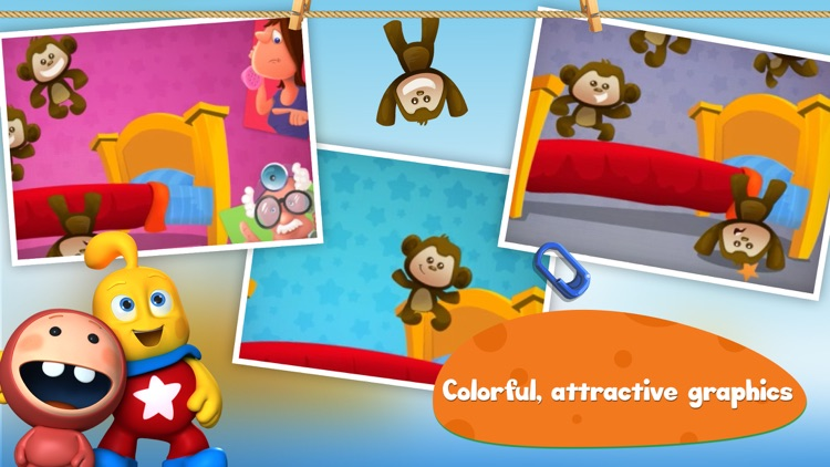 5 Little Monkeys Jumping On The Bed: TopIQ Story Book For Children in Preschool to Kindergarten HD screenshot-4