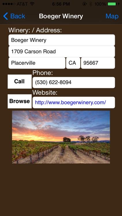 Sierra Foothills Winery Finder screenshot-3