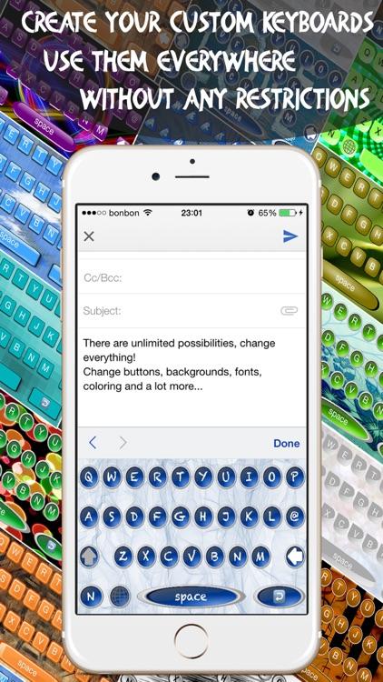 Keyboard Maker - Custom Keyboards Creator allows custom keys, font, backgrounds & photo backgrounds screenshot-4