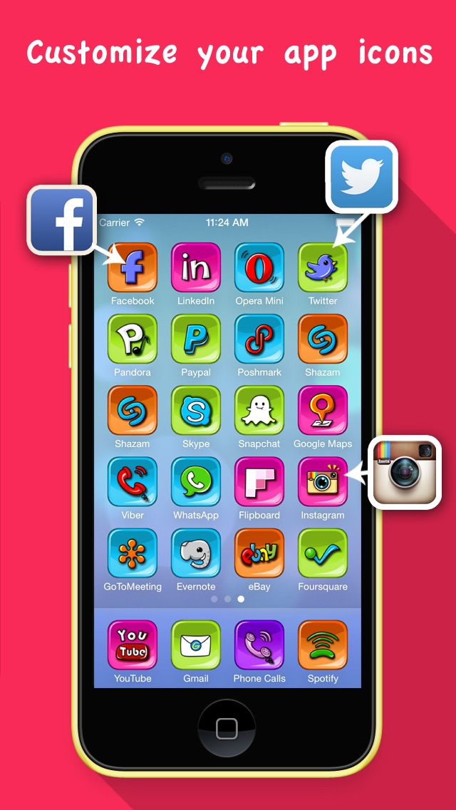 Skin My Icons- Home Screen Icons,Icons Skin screenshot one