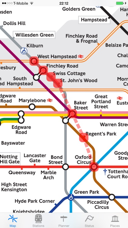 London Tube Map and Guide - Live underground line status and departure info screenshot-3