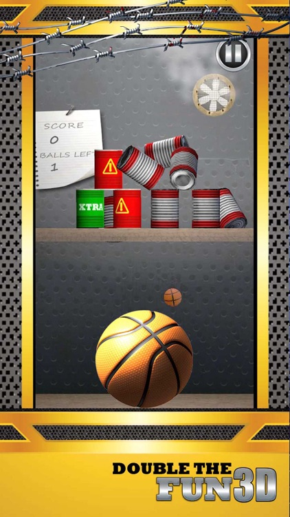 Shoot Hoops Basketball Toss Game 3D - Real Knockdown Cans Flick Game