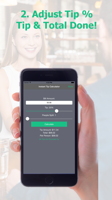 Instant Tip Calculator - Quickly Generate Gratuity screenshot three