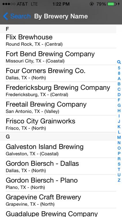 Texas Brewery Beer Finder