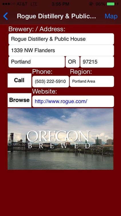 Oregon Brewery Finder screenshot-3