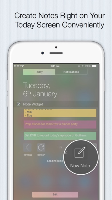 Note Widget - the fastest and most efficient way to add note,to-do,reminders,shopping list screenshot two