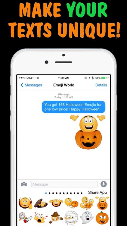 Halloween Emojis Keyboard by Emoji World screenshot-3