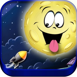Shoot at Moon - Kids adventure shooting action and space shooter game