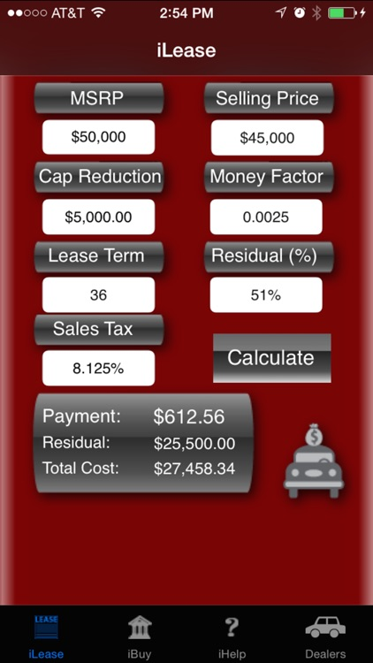 iLeaseMyCar Loan and Lease Payment Calculator screenshot-0