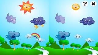 アクティブ! 子どもたちは、太陽、雨、雲と天気について学ぶためのゲームのスクリーンショット2