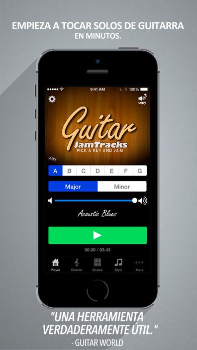 Screenshot for Guitar Jam Tracks - Profesor de guitarra y compañero de prácticas in Chile App Store