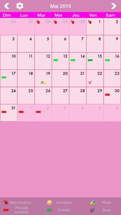 calendrier menstruel