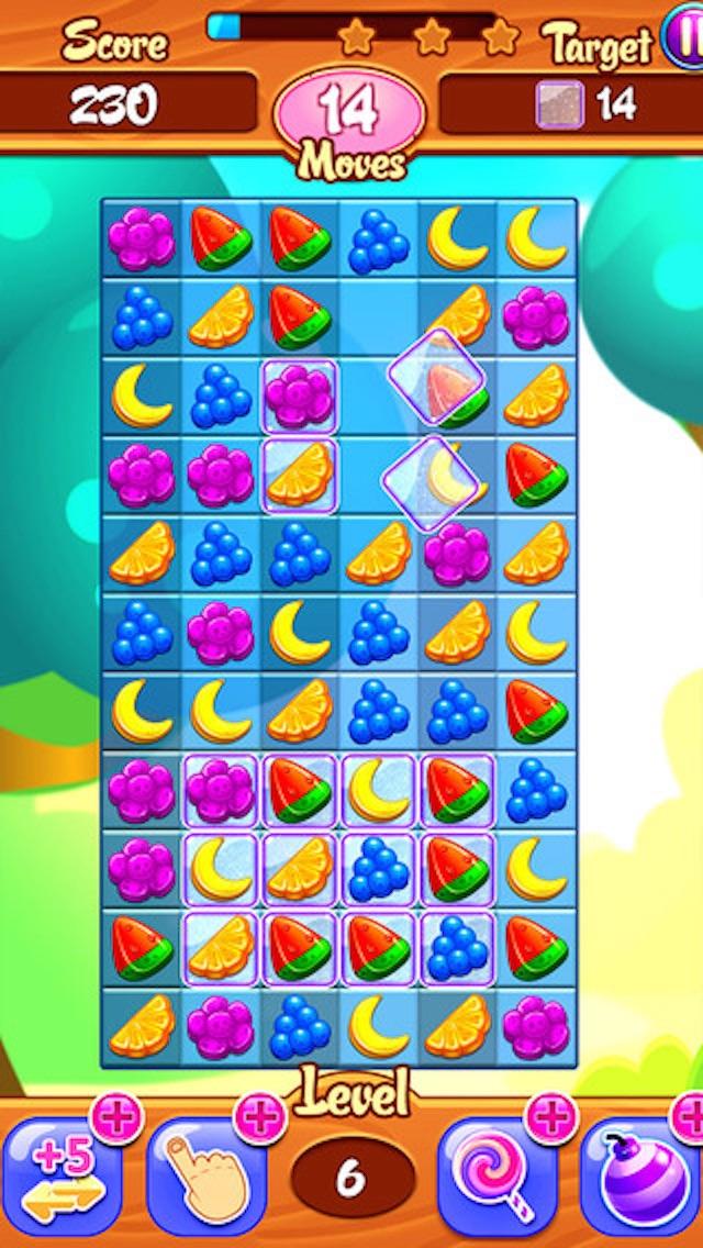 Juicy Fruit - 3 match puzzle yummy blast mania gameのおすすめ画像4