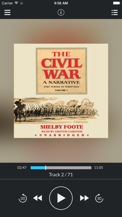 The Civil War: A Narrative, Vol. 1: Fort Sumter to Perryville (by Shelby Foote) (UNABRIDGED AUDIOBOOK)