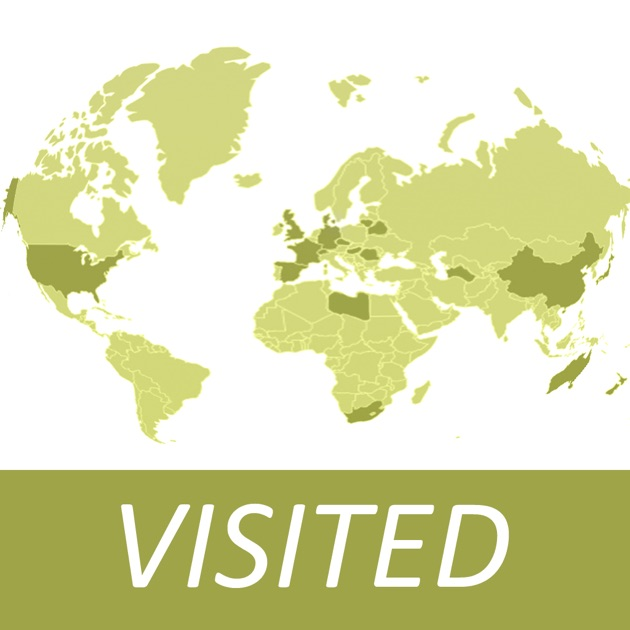 Visited countries map world travel log for marking where you visited countries map world travel log for marking where you have been on the app store gumiabroncs Image collections