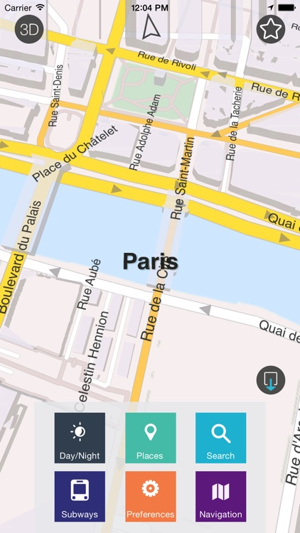 Paris - Offline Map & City Guide (w/metro!)
