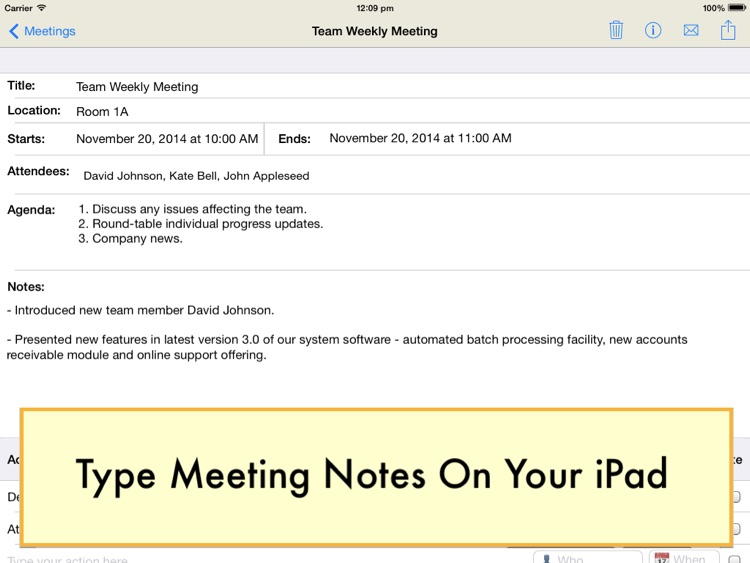 Meeting Notepad screenshot-1