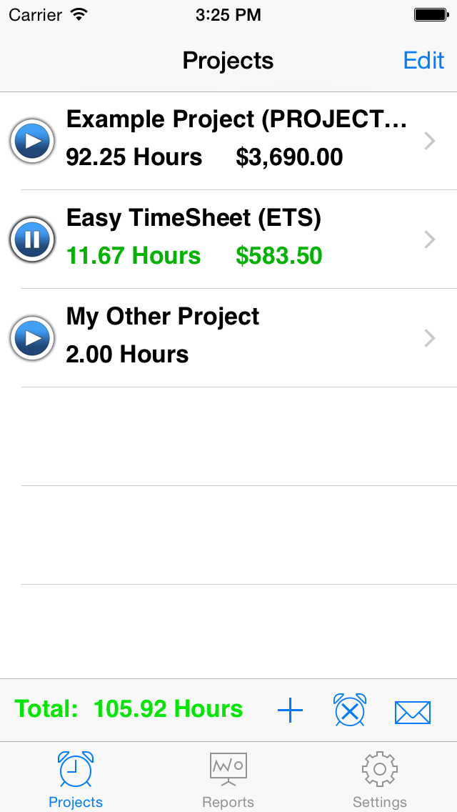 Easy Timesheet review screenshots