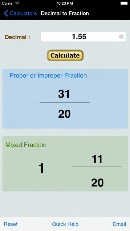 Decimal to Fraction Converter & Calculator