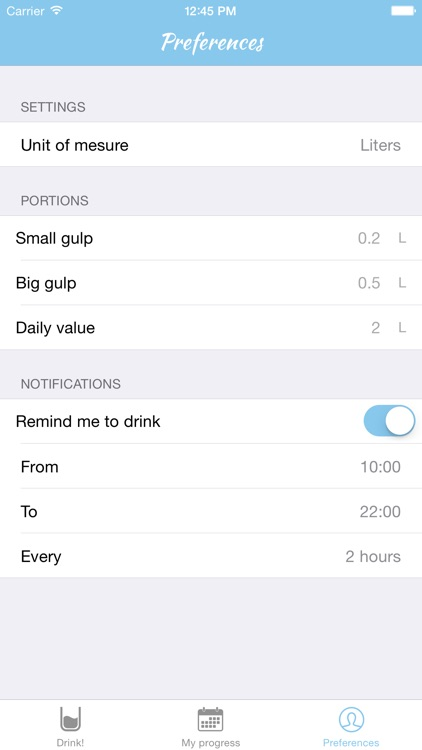 Drink Meter - Measure your Daily Drink right from your Apple Watch and your iOS Device