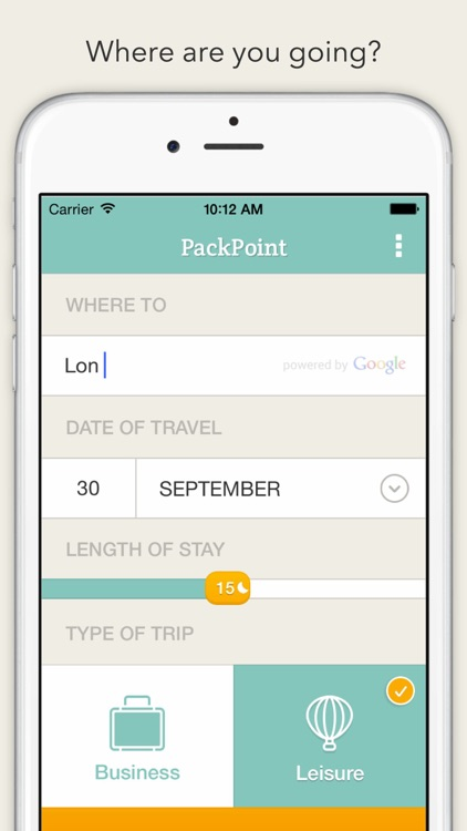 PackPoint Travel Packing List screenshot-0