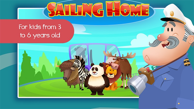 Sailing Home – Learn Animal Habitats. Educational game for preschool kids