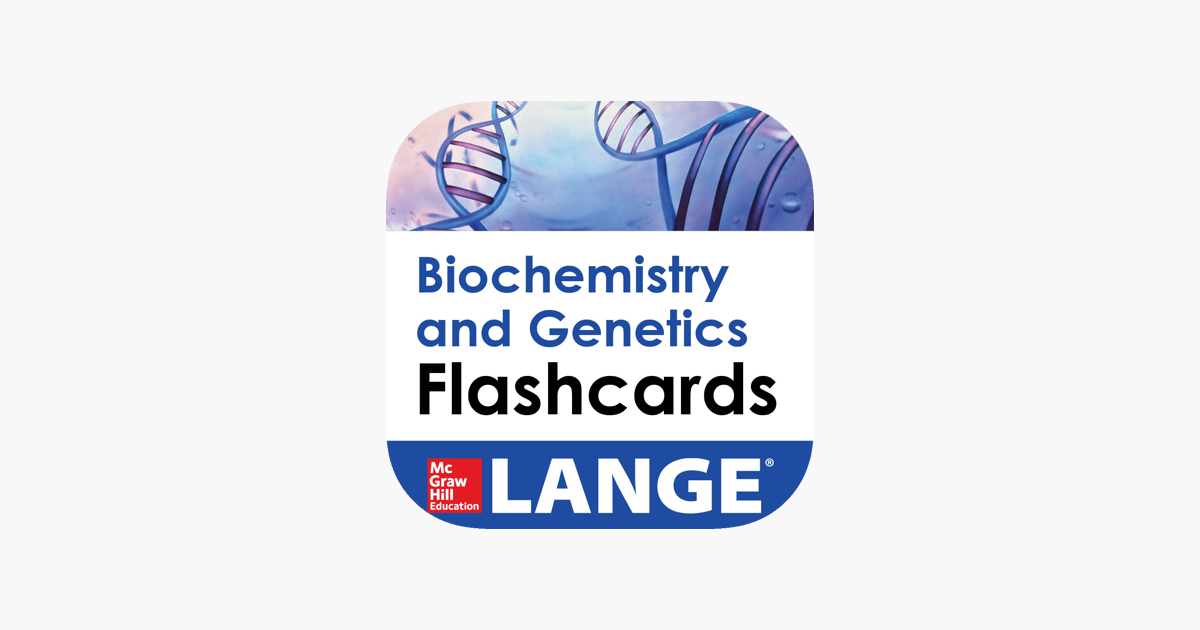 Biochemistry and Genetics Lange Flash Cards on the App Store