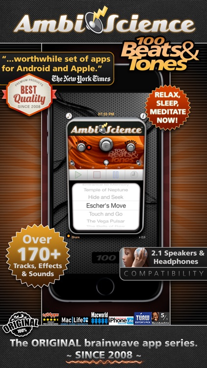 100 Binaural Beats and Isochronic Tones! | AmbiScience™ screenshot-0