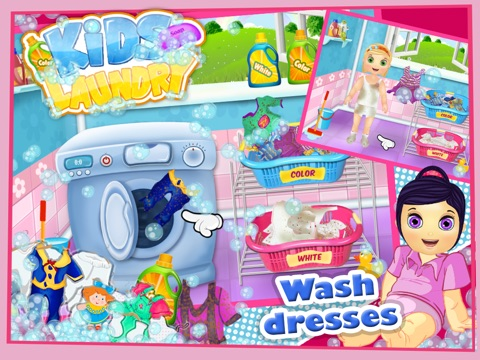 Baby Clothes Kids Laundry Time - Washing & Dry Cleaning Mommy's Little Helper-ipad-2