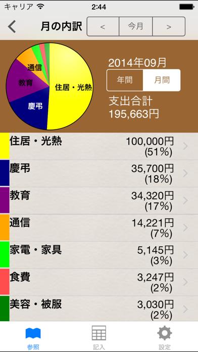 すぐ家計簿 ScreenShot3