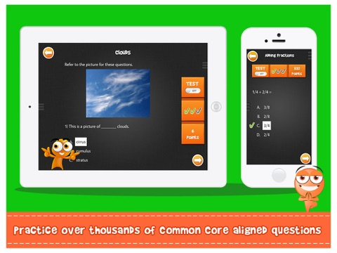 Screenshot #2 for iTooch 3rd Grade App | Math, Language Arts and Science