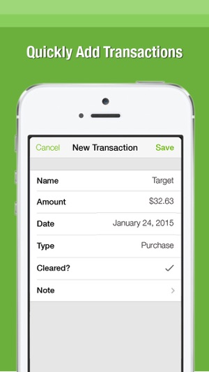 balance the simple checkbook register on the app store