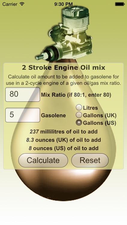 2 Stroke Oil Mix Calculator