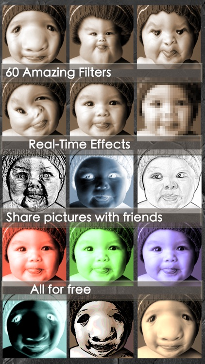 Funny Camera - Free photo booth effects live on camera+ pic editor +picture collage + cool photo effects