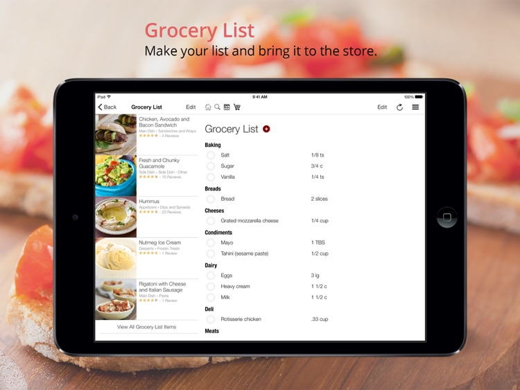 BigOven: 350,000+ Recipes and Grocery List screenshot-2