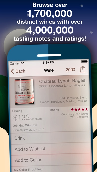 Screenshot for Corkz: Wine Reviews and Cellar in United Arab Emirates App Store