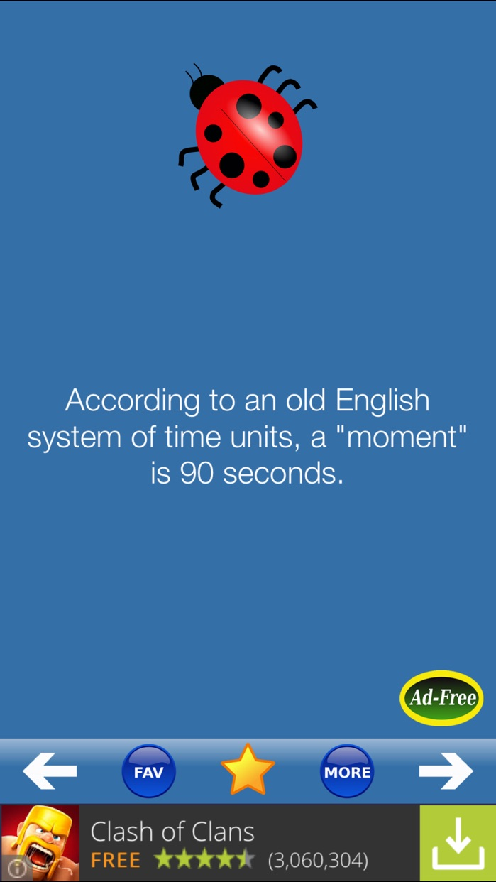 Weird Facts 1000! Fun, Random, Interesting, True and Cool Fact of the Day for FREE! Screenshot