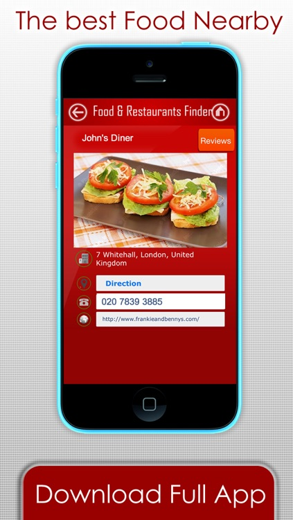 Food Restaurants & Bars finder -  The fast way to find fast food , diner or where to eat at my current location plus GPS directions screenshot-3