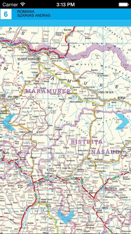 Romania. Tourist Map