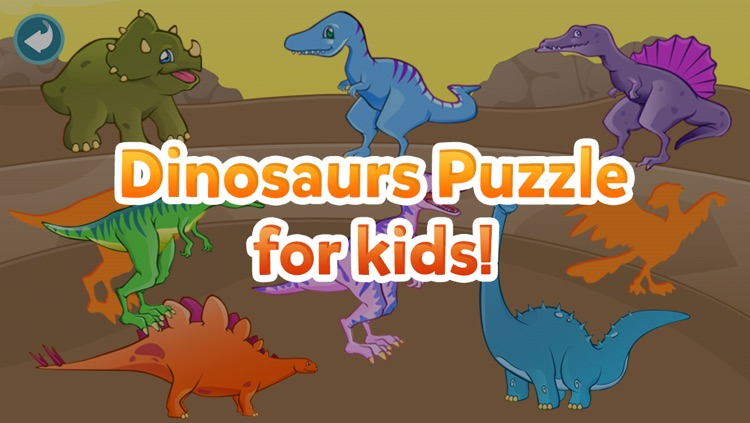 Dinosaur Shape Puzzle - Preschool and Kindergarten Kids Dino Educational Early Learning Adventure Game for Toddlers screenshot-4