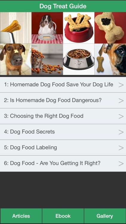 Dog Treat Guide - Homemade Dog Food for Your Dog Healthy !