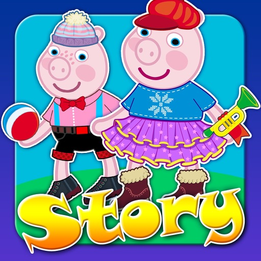 My Interactive Happy Little Pig Story Book Dress Up Time Game - Free App